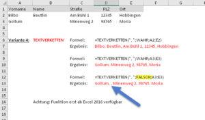 Variante 4: Die TEXTVERKETTEN-Funktion