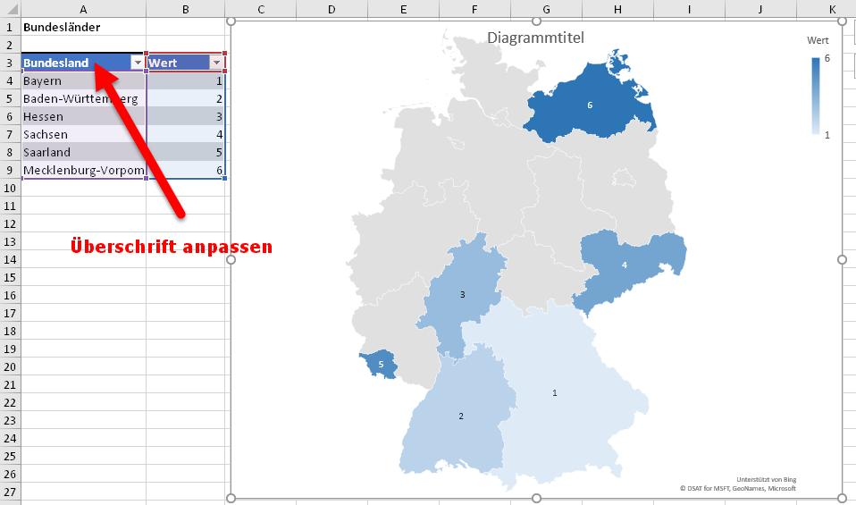 Plz Karte Deutschland Kostenlos Download.Sehr Cool Kartendiagramme In Excel Der Tabellen Experte