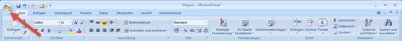 Excel 2007 mit der Office-Schaltfläche