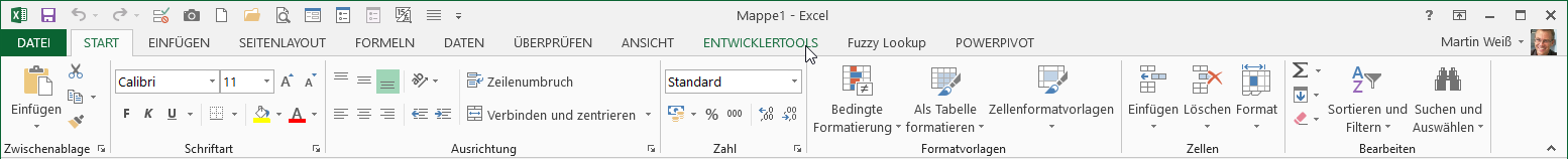 Excel 2013: Moderneres Design