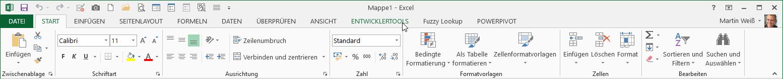 Excel 2013: Moderneres Design