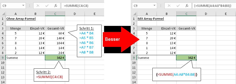 Ab in die Matrix: Eine kleine Einführung in Array-Formeln | Der ...