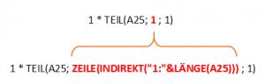Beispiel 1: Quersumme mit Array-Formel (Fortsetzung)