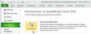 Excel 2010: Datei konvertieren