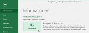 Excel 2016: Datei konvertieren