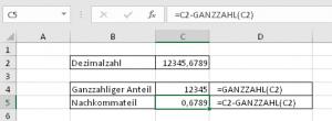 Die GANZZAHL-Funktion