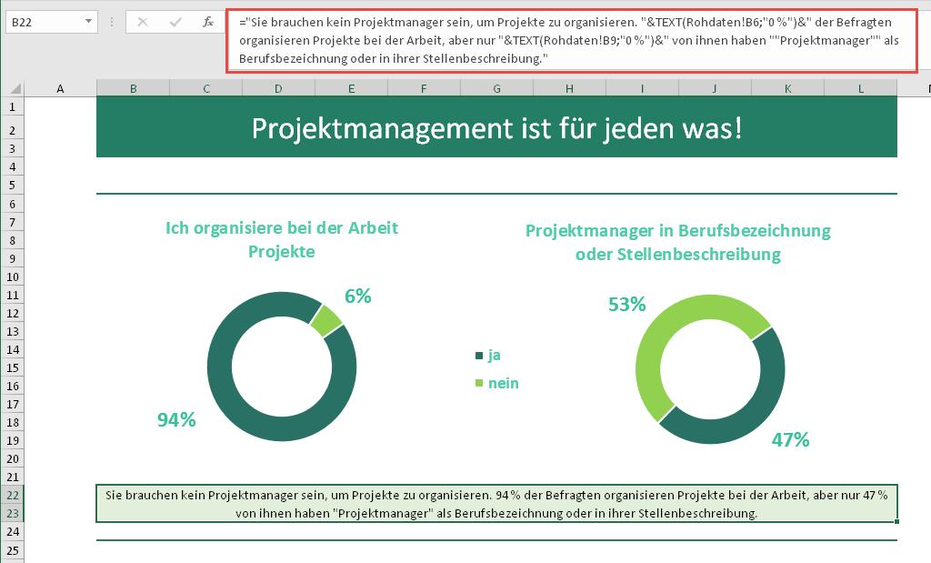 Infografiken mit Excel erstellen (Workshop Teil 1)   Der Tabellen ...