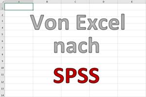 Konvertierung von Excel zu SPSS