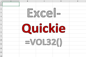 Excel-Quickies (Vol 32)