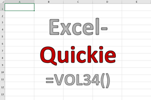 Excel-Quickies (Vol 34)