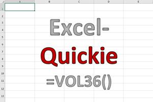 Excel-Quickies (Vol 36)