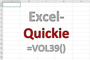 Excel-Quickies (Vol 39)