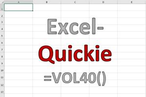 Excel-Quickies (Vol 40)