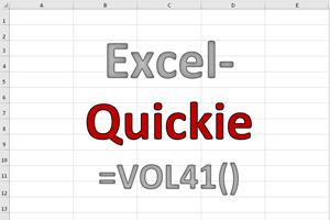 Excel-Quickies (Vol 41)