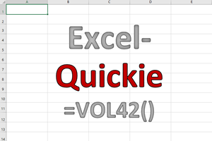 Excel-Quickies (Vol 42)
