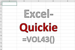 Excel-Quickies (Vol 43)