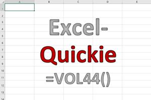 Excel-Quickies (Vol 44)