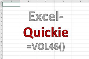 Excel-Quickies (Vol 46)