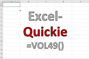 Excel-Quickies (Vol 49)