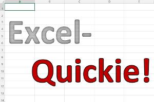 Excel-Quickies im Juli
