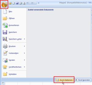 Excel 2007: Excel-Optionen