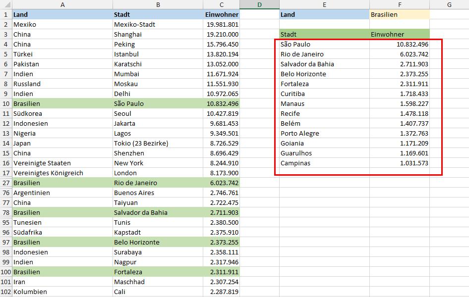 Besser als SVERWEIS: Alle Werte finden   Der Tabellen-Experte