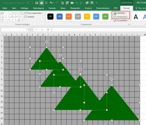 Excel 2007-2013: Dreiecksform erstellen