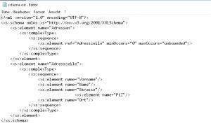 Die XML-Schema-Datei
