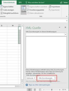 XML-Zuordnungen verwalten