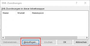 Die Schema-Datei hinzufügen