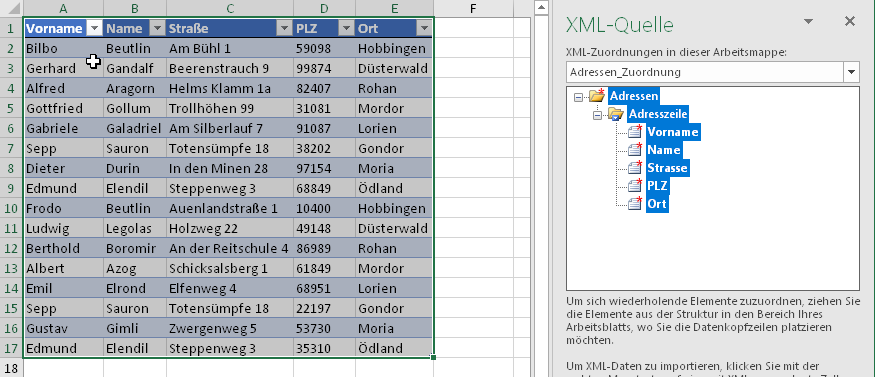 Von Excel zu XML (und zurück) | Der Tabellen-Experte