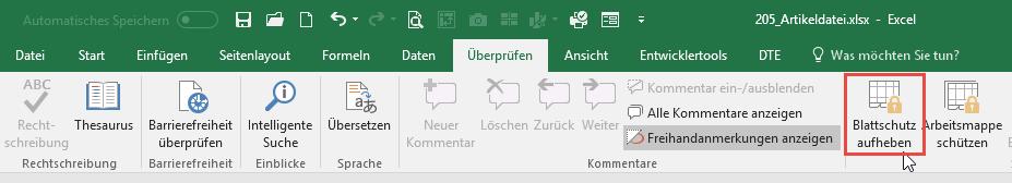 Excel Arbeitsblatt Blattschutz Aufheben : Excel quickies vol der tabellen experte