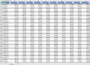 Formatierte Tabelle als Ausgangsbasis