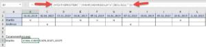 Eingabe als Array-Formel