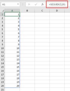 Eine einfache Zahlensequenz