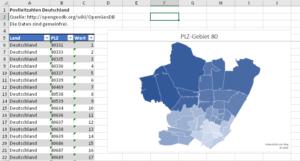 Karte auf PLZ-Ebene (5stellig)