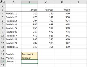 Beispiel 2 mit zwei Variablen