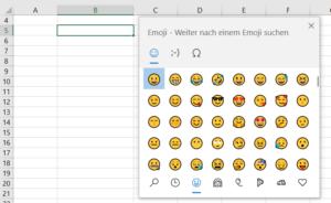 Mit Windows + Punkt die Emoji-Tabelle aufrufen