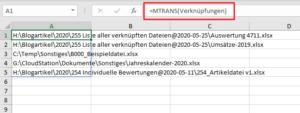 Vertikale Anordnung mit MTRANS
