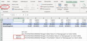 Pivot-Tabellen-Name kann nicht verwendet werden