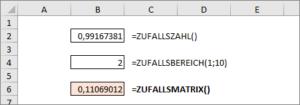 Neue Funktion: ZUFALLSMATRIX