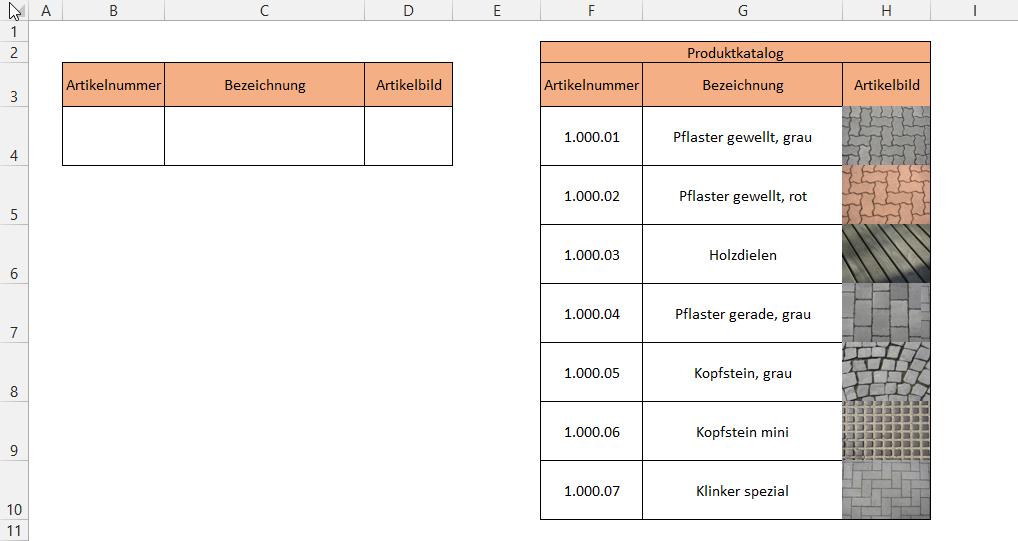 Bildauswahl per Dropdown-Liste   Der Tabellen-Experte