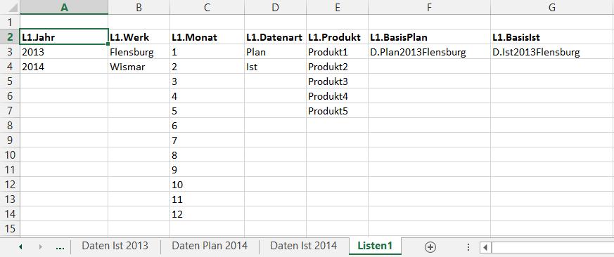Dynamische Basisdatenauswahl   Der Tabellen-Experte