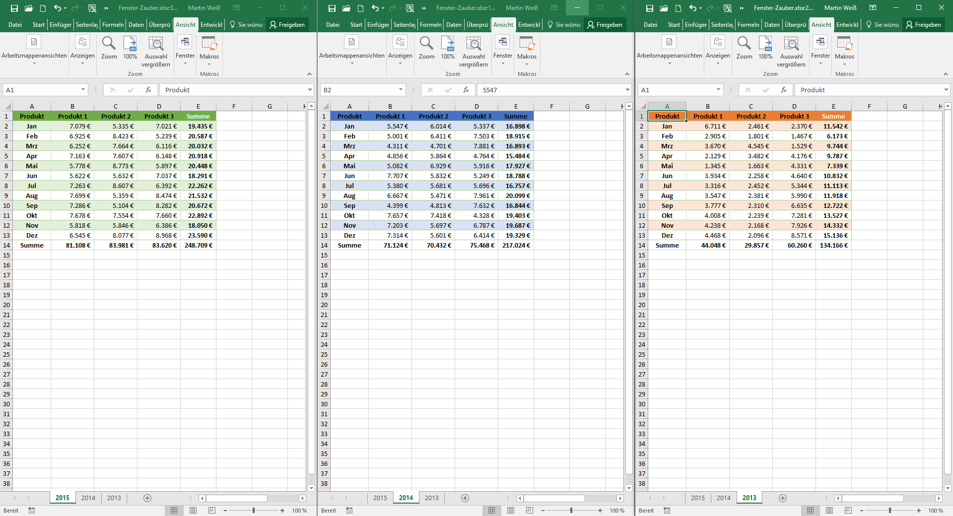 Fenster-Zauber in Excel | Der Tabellen-Experte