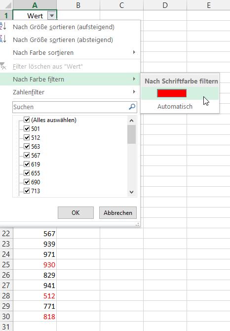 Ein kleiner Filter-Trick   Der Tabellen-Experte