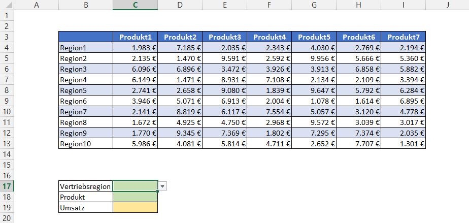 Finde einen Schnittpunkt in einer Excel-Tabelle | Der Tabellen-Experte
