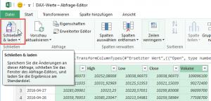 Abfrageergebnisse an Excel übergeben