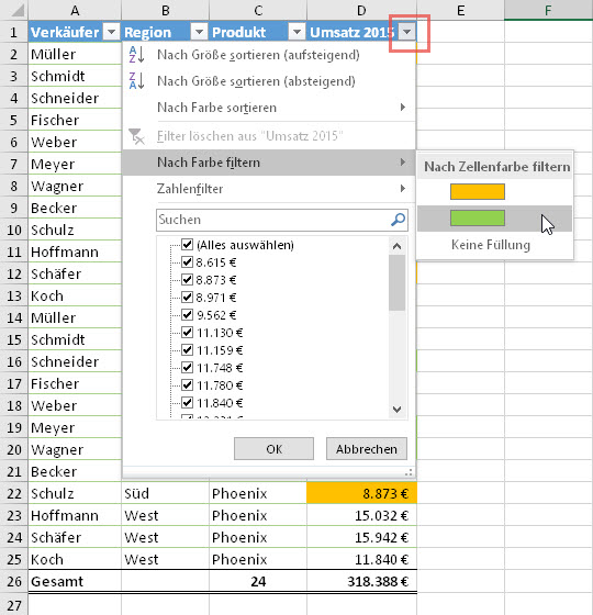 In Excel mit Farben rechnen   Der Tabellen-Experte