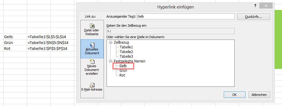 Hyperlink einfügen