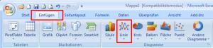 Excel 2007: Liniendiagramm einfügen